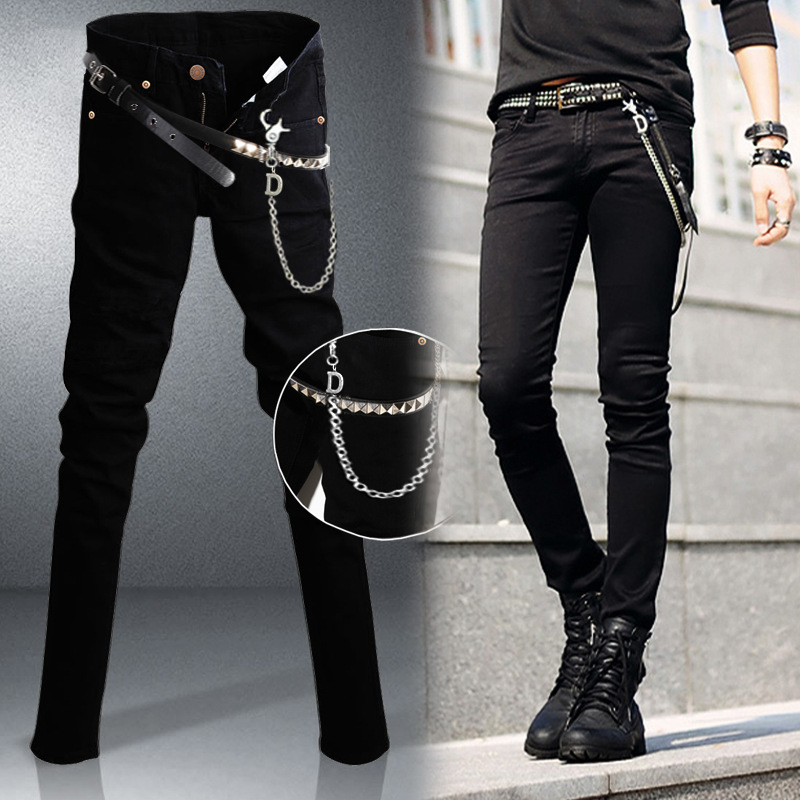 4fcce6ff630 Slim Fit Jeans Punk Cool Super Skinny Pants - MenPant.com
