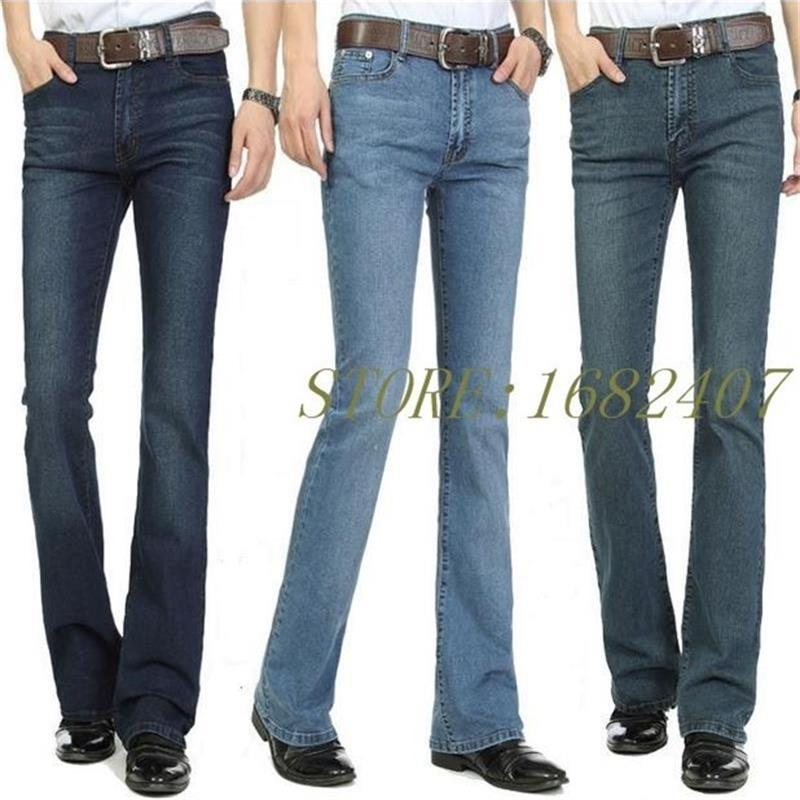 Business Casual Jeans Semi-flared Bottom Jeans
