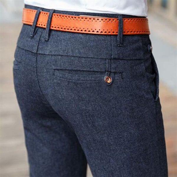 Casual Pants Men Business Slim Straight Pant