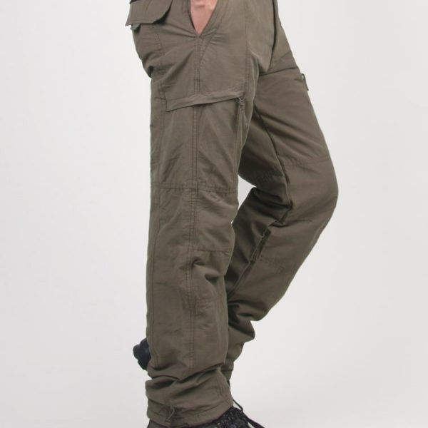Double Layer Thick Men Cargo Pants