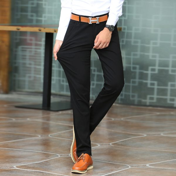 Elastic Casual Pants Stretch Long Trouser