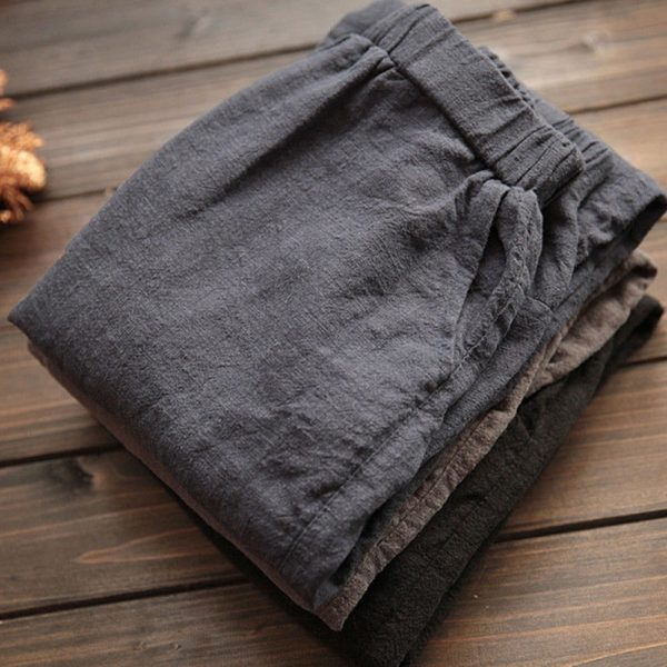 Elastic Waist Loose Trousers Casual Harem Pants