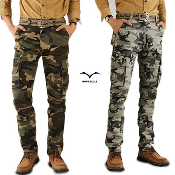 Fashion Cargo Pants Crotch Jogger Patchwork Pants