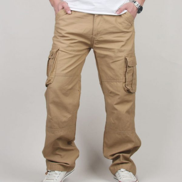 Men's Cargo Pants Casual Full Length Trousers