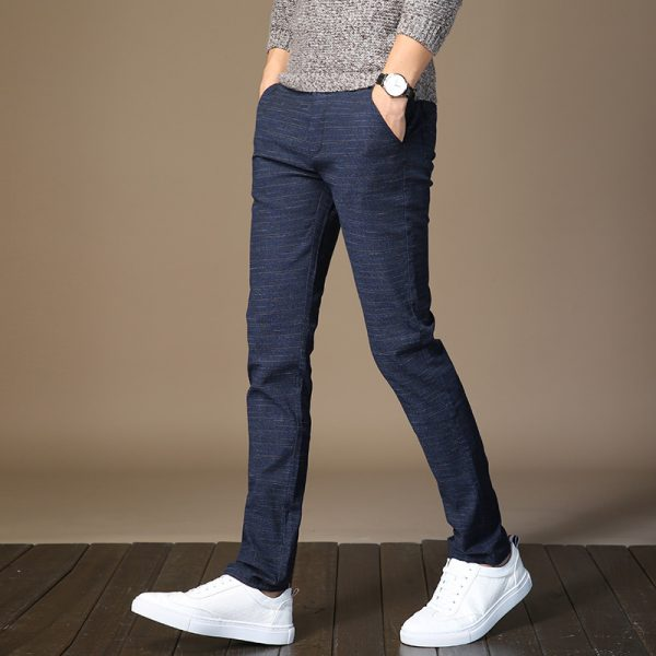 Men's Elastic Casual Pants Slim Jogger Trouser