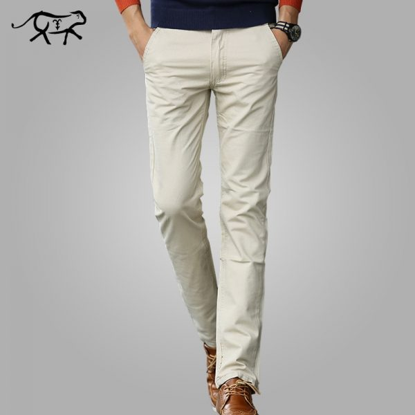 Men Casual Pants Cotton Male Trousers