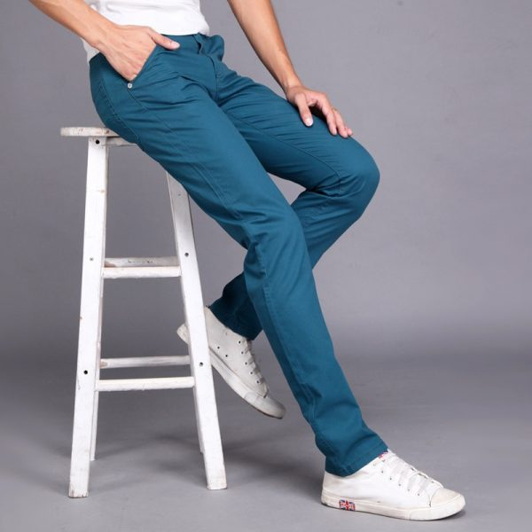 Men Casual Pants Male Pocket Trousers
