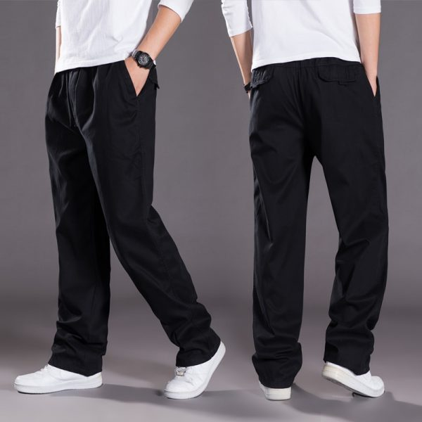 Men Harem Tactical Pants Sagging Cotton Pants