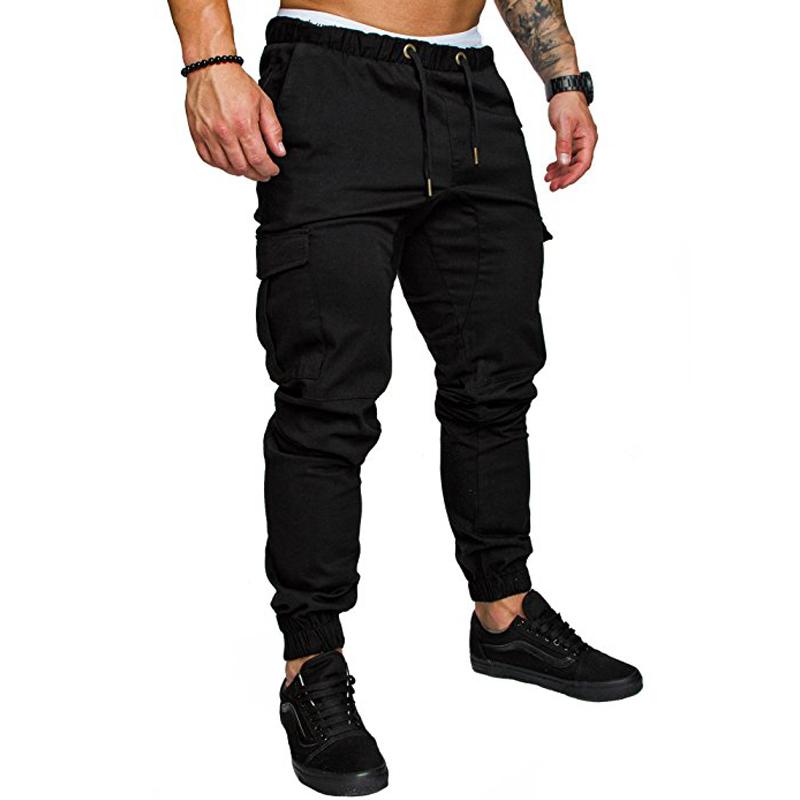 Men Pants Hip Hop Harem Joggers Pants Trousers