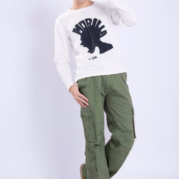 Military Cargo Pants Loose Baggy Tactical Trousers