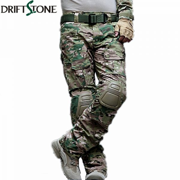 Military Uniform Trousers Cargo Pants with Knee Pads