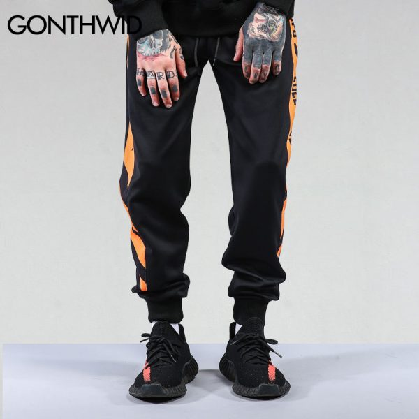 Patchwork Harem Pants Casual Joggers Trousers