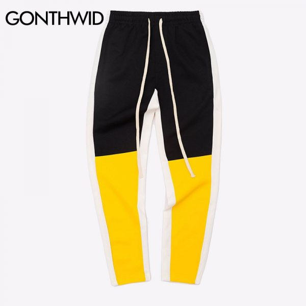 Patchwork Harem Pants Joggers Casual Track Pants
