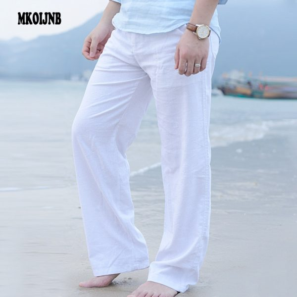 Summer Casual Pants Cotton Linen Trousers