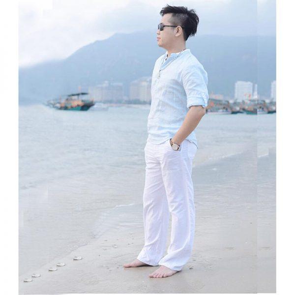 Summer Casual Pants Cotton Linen Trousers
