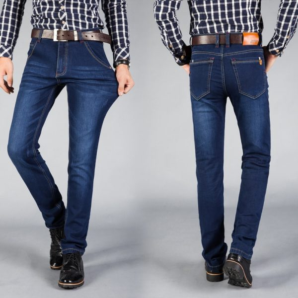 Autumn Winter Jeans Men Denim Trousers Pants