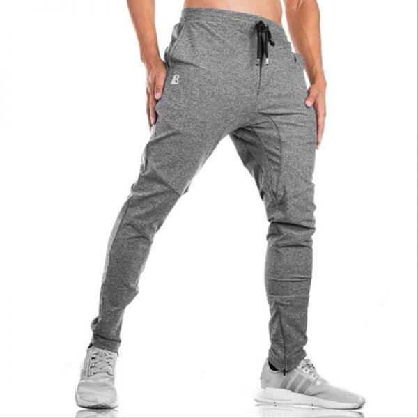 Bodybuilding Joggers Men Casual Pants Cotton Pencil Pants