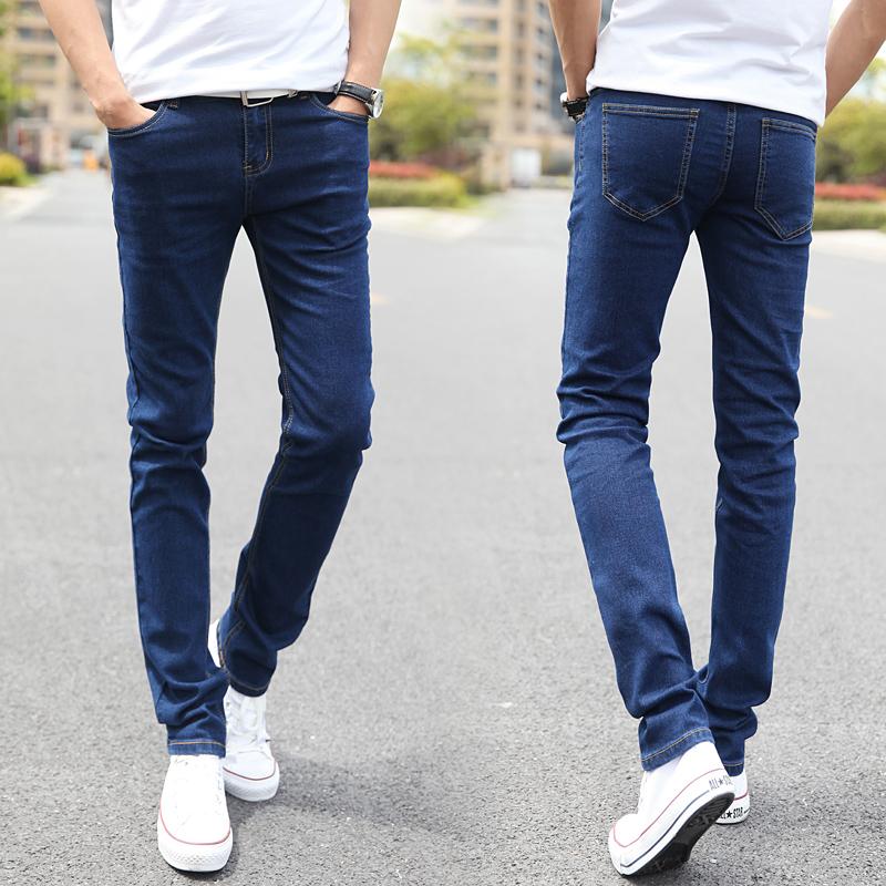Elastic Straight Jeans Skinny Men Jean Pants