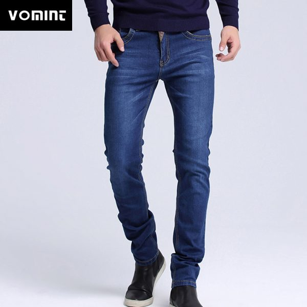 Fashion Men Casual Jeans Slim Fit Skinny Pants