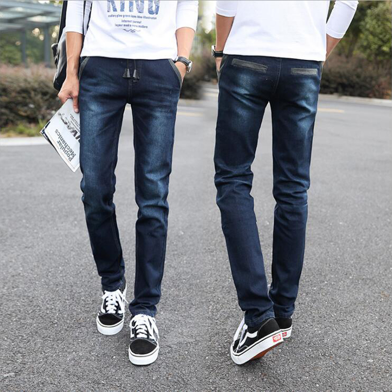 Men's Denim Jeans Slim Fit Denim Joggers