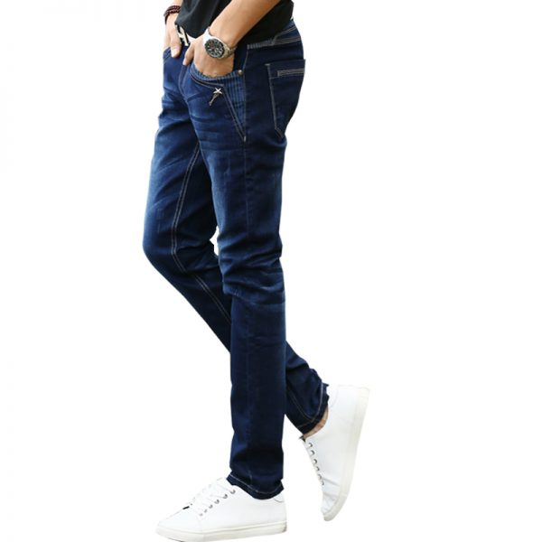 Men's Stretch Jeans Slim Fit Pencil Pants