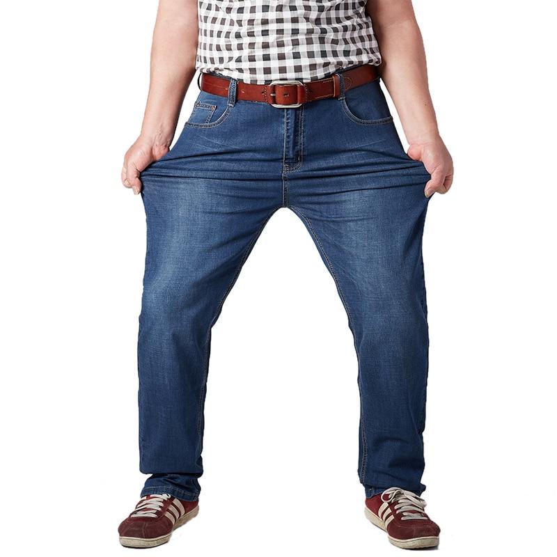 Men Classic Straight Baggy Jeans Denim Pants
