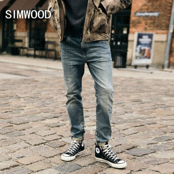 Men Classical Jean Straight Male Casual Pants