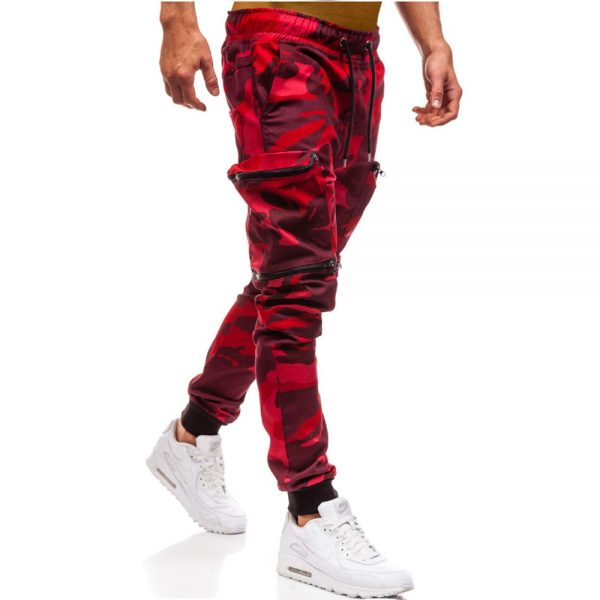 Men Joggers Casual Pants Elastic Male Trousers