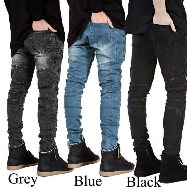 Slim Biker Jeans Fashion Hip Hop Skinny Jeans