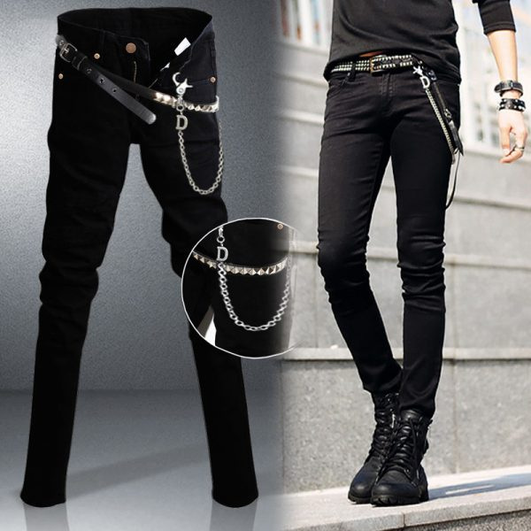 Slim Fit Jeans Punk Cool Super Skinny Pants