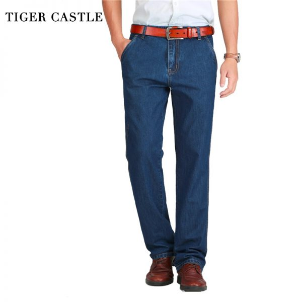 Summer Men Jeans Slight Classic Denim Pants