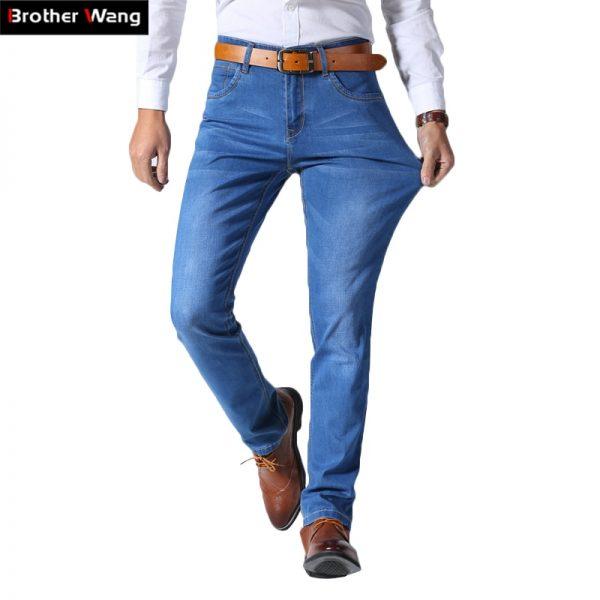Thin Light Jeans Casual Slim Denim Jeans