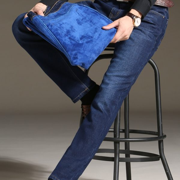 Winter Fleece Jeans Stretch Denim Warm Jeans
