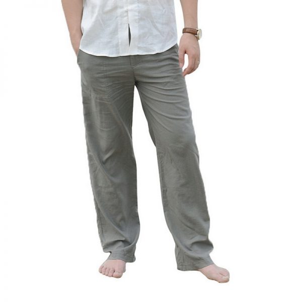 Linen Pants Trousers Beachwear Joggers Sweatpants