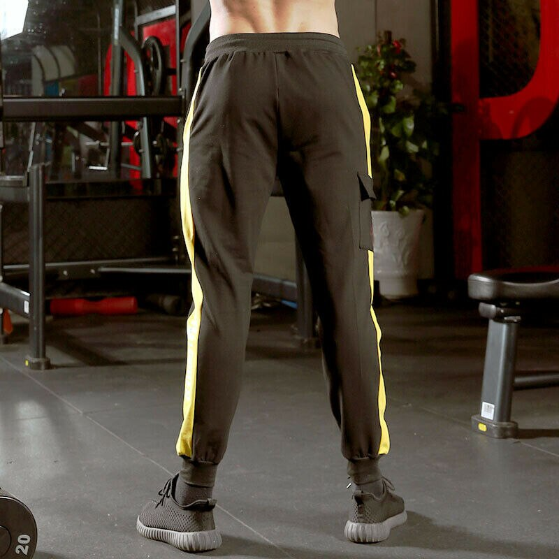 Men Cotton Long Sport Pants