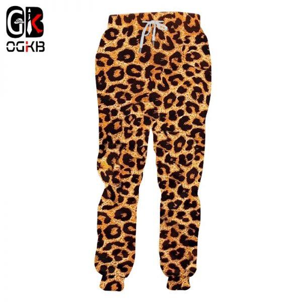 Jogger Pants 3D Trousers Leopard Sweatpants