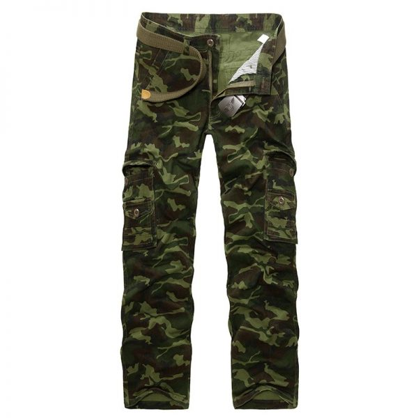 Army Green Camouflage Cargo Pants