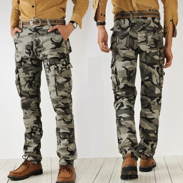 Camouflage Cargo Pants Casual Trousers