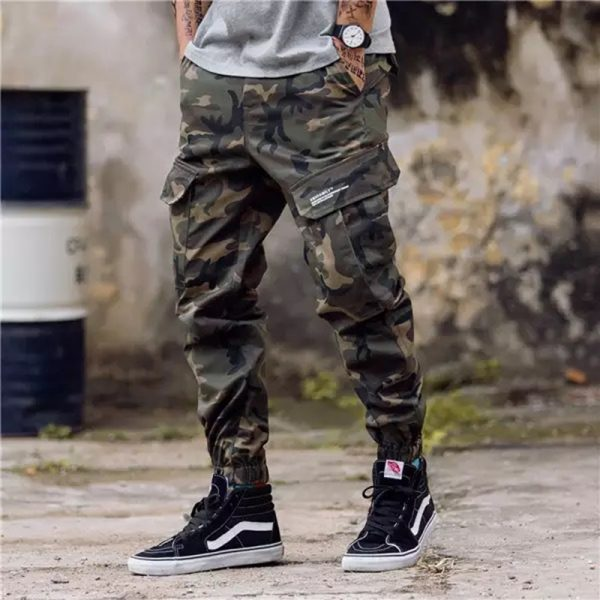 Fashion Streetwear Men Jeans Jogger Pants