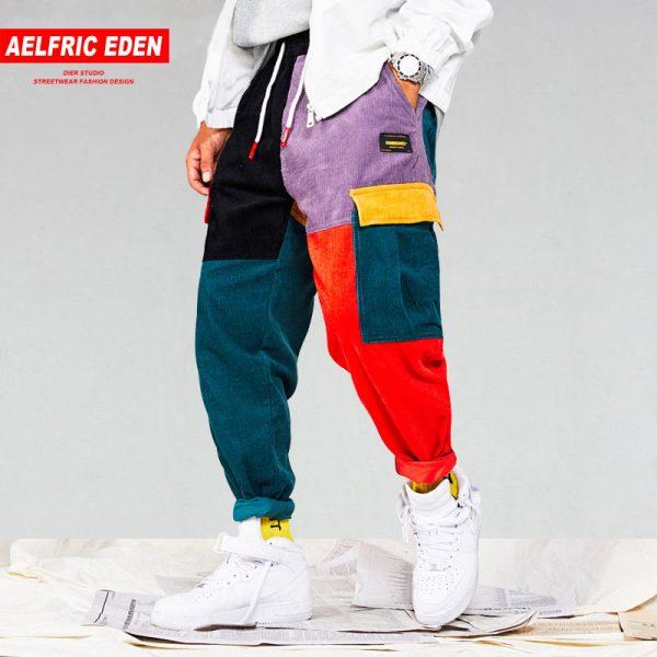 Corduroy Cargo Pants Harem Pants