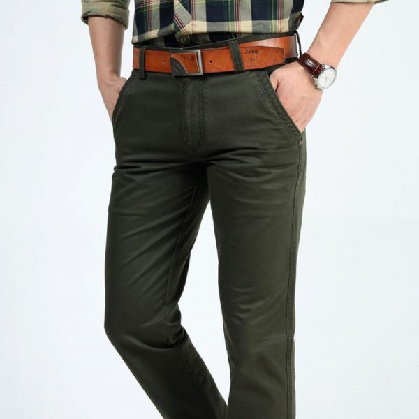 Men Pants Cotton Cargo Pants