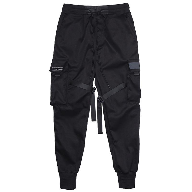 Multi Pocket Elastic Waist Harem Pant Casual Trousers
