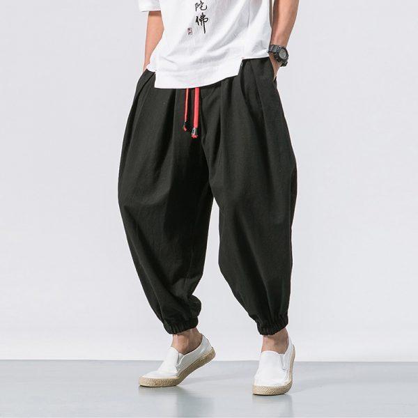 Popular Patchwork Harem Casual Pants8