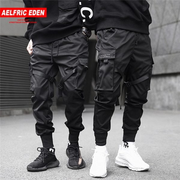 Ribbons Hip Hop Cargo Pants