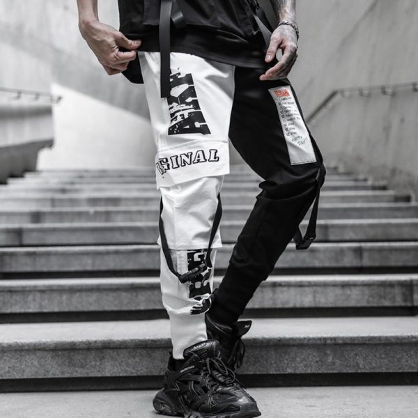 Hip Hop Printed Casual Pencil Trousers