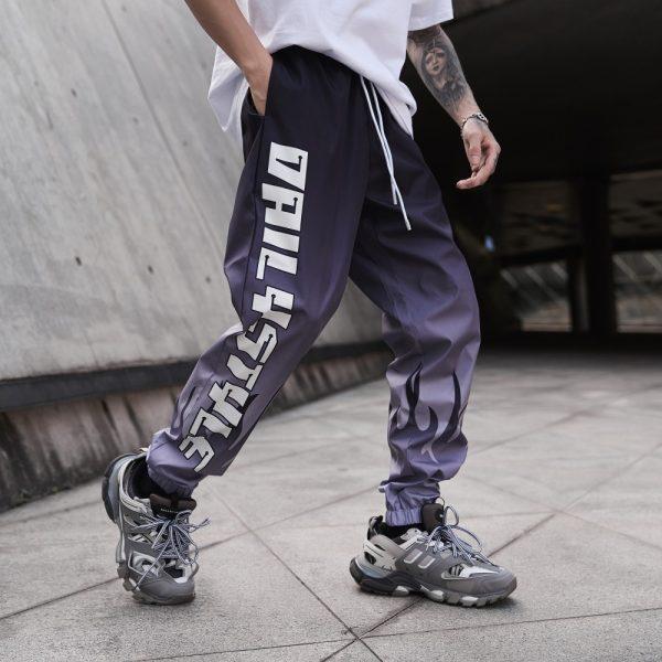 Letter Gradient Joggers Track Pants