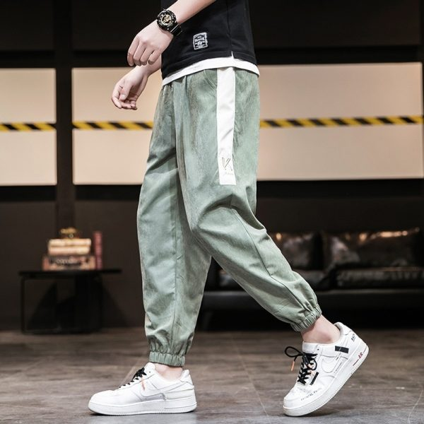 Men Casual Patchwork Harem Pants