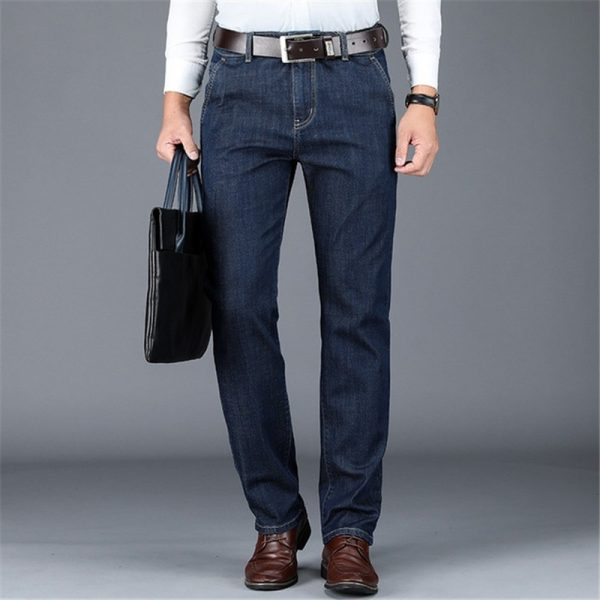 Formal Straight Jeans Denim Trousers