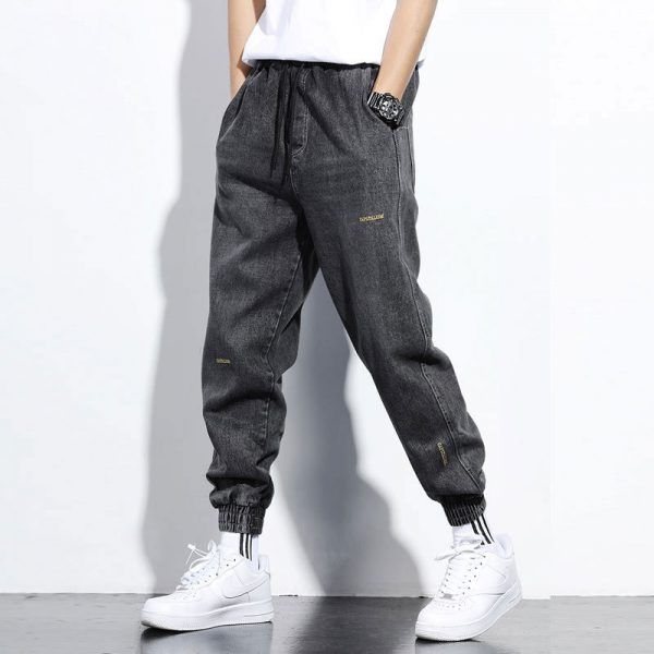 Men Jeans Denim Cargo Pants