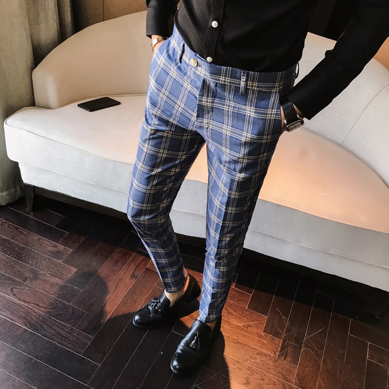 "For those men who are more in the ""sporting apparel"" style, striped pants are the perfect match. The right pair of striped pants can make a man look cool and trendy and can"